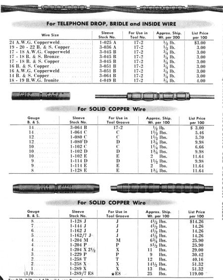conductor splices and terminations