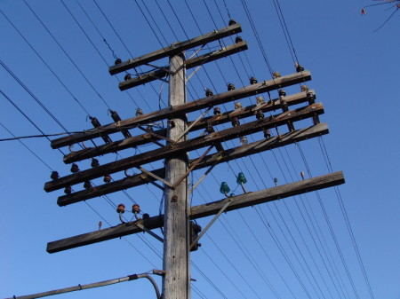 Typical Cable Conversion From Aerial Wire Lead Accomplished In Railway Style UPRR 2014