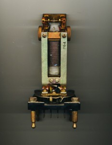 Interior view of 40 C Western Electric Telegraph Biased Relay [actual size].