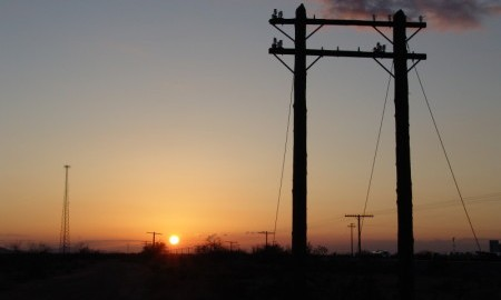 In the sunset years of open wire telecommunications . . .