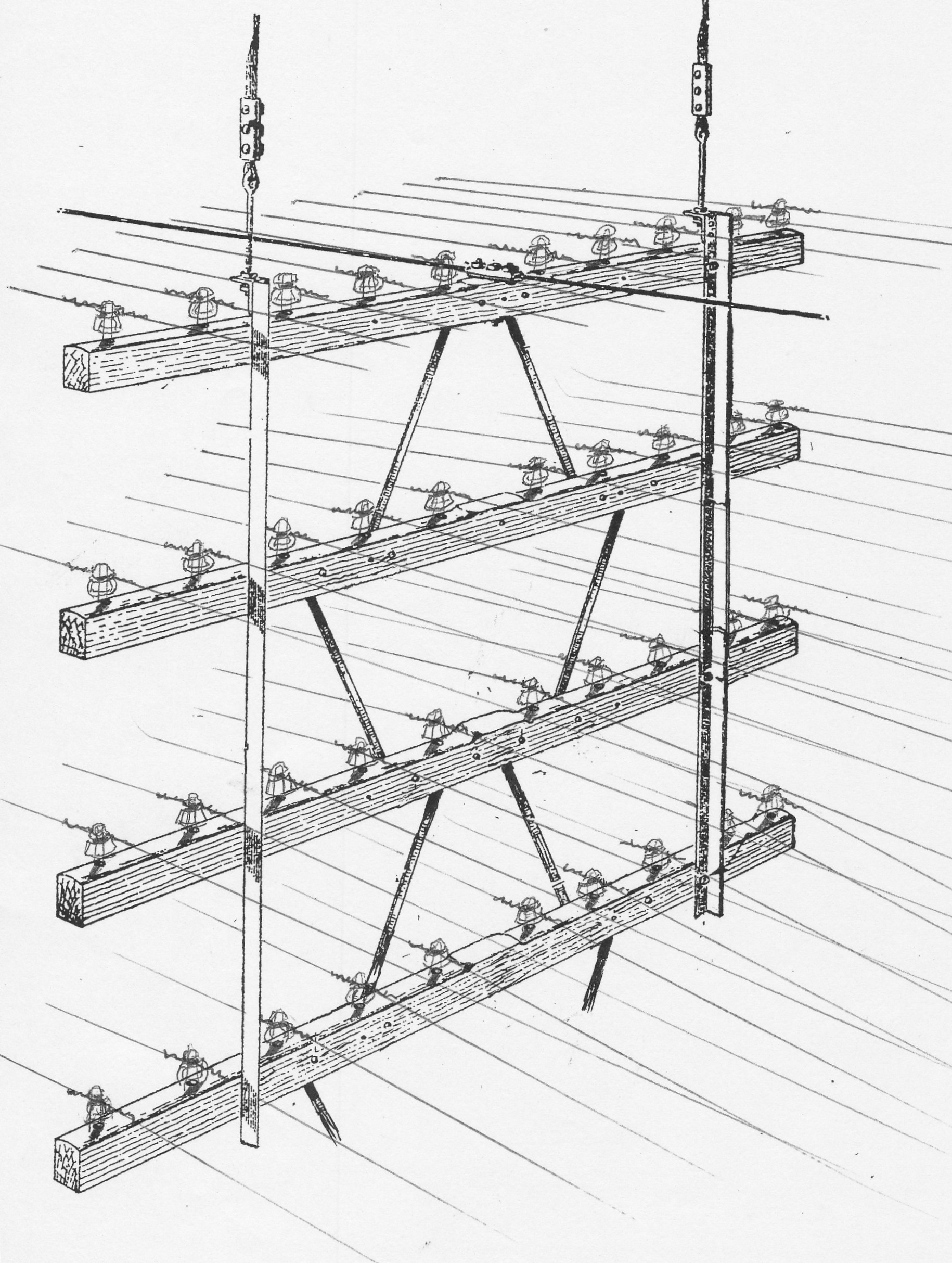 catenary-open-wire-crossarm-assy